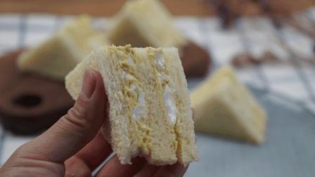 今天教大家, 用鸡蛋和吐司面包做三明治, 好吃简单还健康