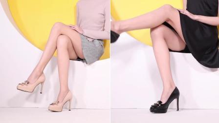 时尚高跟鞋, 在颜色的设计上大胆的采用了纯色的颜色
