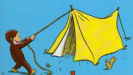 《好奇的乔治去野营》调皮的小猴子如何成为了救火英雄, 休闲益智绘本故事