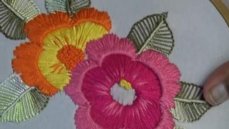 用这个方法绣花, 很快就能学会花朵的刺绣方法(步骤2-2)