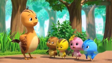 萌鸡小队:小鸡们闹着要和竹节虫再玩一次捉迷藏,你们太吵啦!