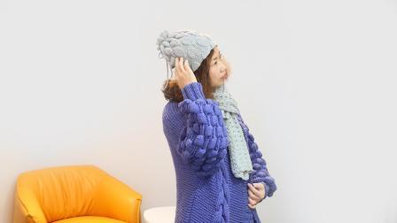 小辛娜娜编织2018第86集叶子围脖围巾帽子的钩织方法编织视频完整