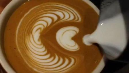 基础咖啡拉花技巧压纹郁金香教程