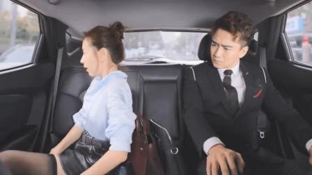 总裁与美女同拼一辆车,没想到美女竟在车上穿