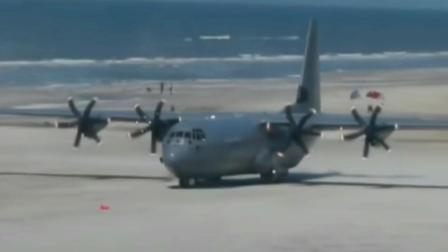 美国C130大力神运输机迫降在海边沙滩上漫步, 1954年首服役70多国