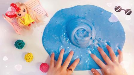 """想做无硼砂史莱姆, 却做出一团蓝色""""肥肉""""! 你见过这么奇葩的吗"""