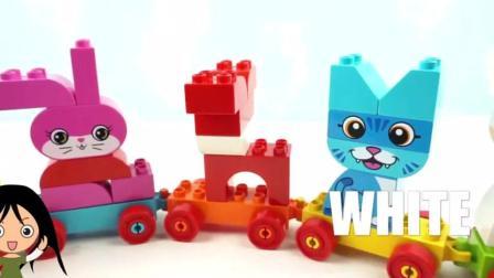 乐高积木组装小动物卡通玩具 小朋友学习颜色