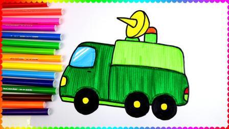 男孩子最喜欢的简笔画,军事车野战通讯车!