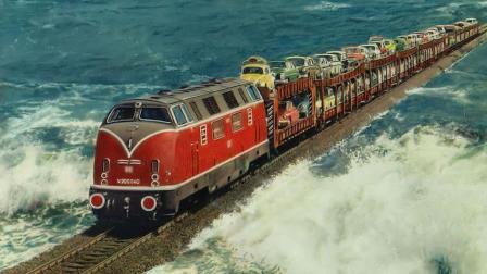 世界上最牛的铁路, 行驶在海中间, 涨潮时在海底穿过!