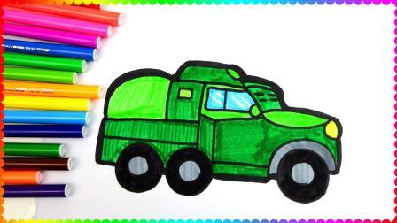 儿童简笔画 谁说男宝宝都喜欢玩具?也有喜欢画画的,画一辆装甲车满足军事梦