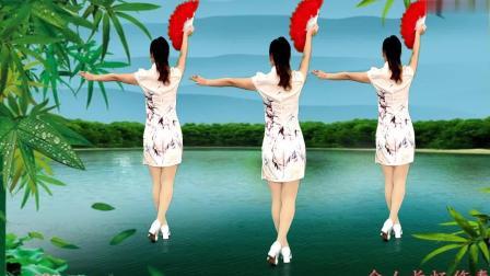 旗袍秀广场舞《月下待杜鹃不来》演唱: 费玉清