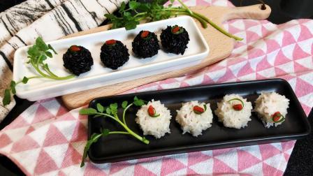 让小孩吃的停不下嘴, 简单易做的双色糯米珍珠丸子, 固视辣妈私厨