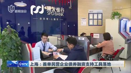 视频|上海: 首单民营企业债券融资支持工具落地