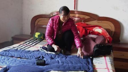 农村妈妈心灵手巧, 如何制作一件纯手工的棉花棉袄? 太舒服了!