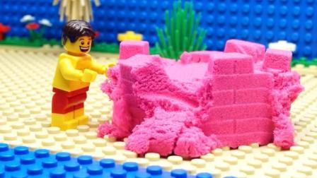 乐高玩具动画 乐高动力砂建筑
