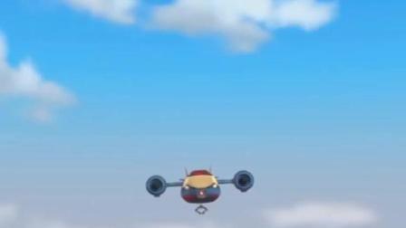 《汪汪队立大功》莱德不知是谁启动空中巡逻机 将皇家宝座带走了!