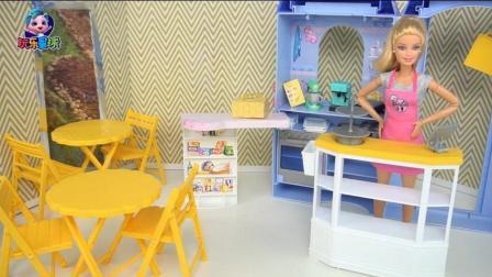 芭比的故事 芭比实现甜品屋梦想公主亲自设计饼干图案