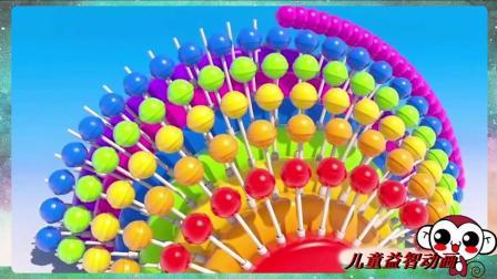 学习颜色棒棒糖蛋糕冰淇淋雪糕糖果