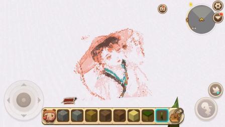 迷你世界古风小姐姐像素画 手动加腮红是不是更可爱了?