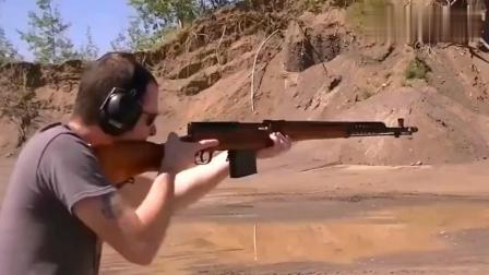 一款采用弹匣供弹射击的半自动步枪, 后坐力小但是威力大!