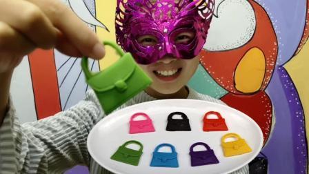 """妹子试吃""""手提包巧克力"""", 不同的色彩非常的漂亮, 好想尝一尝"""