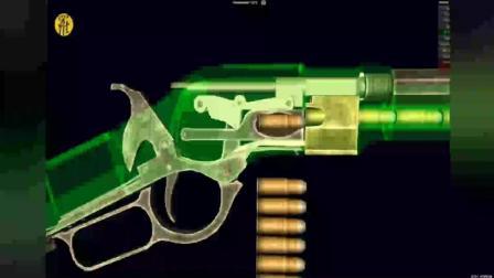 三维展示温彻斯特连杆步枪射击动作
