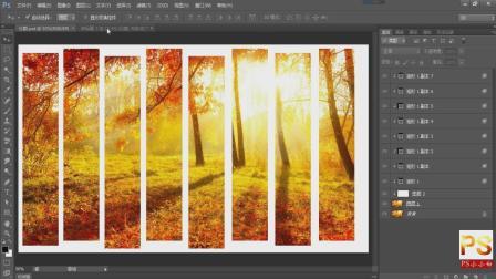 PS小小白-PS分割图片效果的制作, 图片分割效果