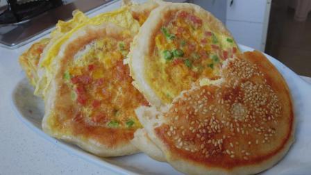 早餐饼这样做最有营养, 一面酥脆一面暄软, 搅拌一碗面糊, 有蛋又有菜, 营养美味吃不够