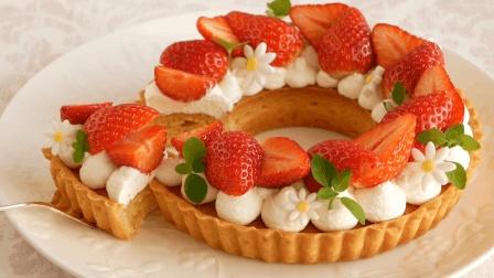 高颜值草莓奶油蛋挞, 香甜不腻的美味甜点