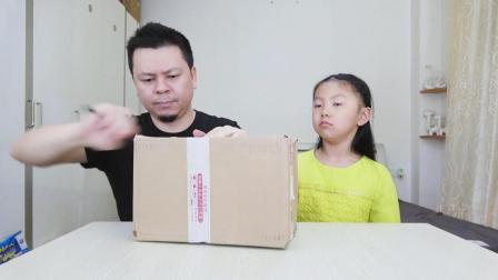 """父女开箱""""抹茶零食大礼包"""", 全都是抹茶味的, 桐桐想哭了"""