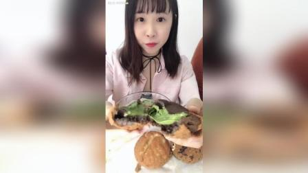 西树泡芙抹茶可可+榴莲+香草, 大爆浆!