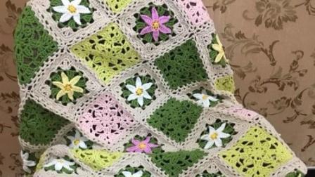 【金贝贝手工坊250辑】M150四季花毯—春兰(中)毛线钩针编织花朵毯子织法教程