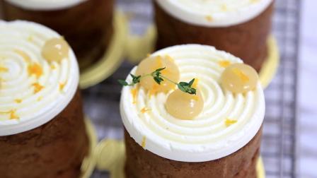 香梨圆柱泡芙: 非典型性泡芙造型, 内藏清新甘润的香梨奶馅