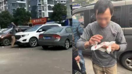 男子因与妻子发生争执 当众连砸4车泄愤
