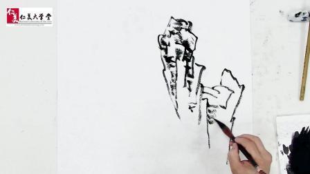 """三清山的""""巨蟒出洞""""用国画表现 只需要会这两种绘画技法就够了…"""