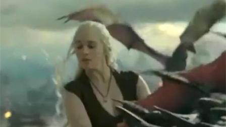 权力的游戏: 龙母带领三龙去屠城, 女王风范十足, 太霸气了!