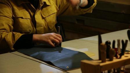手工皮包制作, 做一个纯手工的皮包, 很适合收纳用
