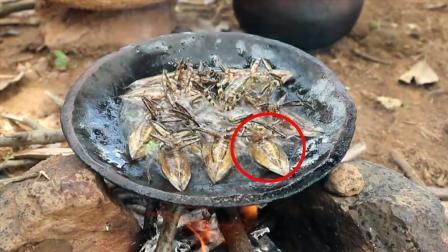 乡下野外美食, 表姐一顿能吃一锅, 看着就好有食欲