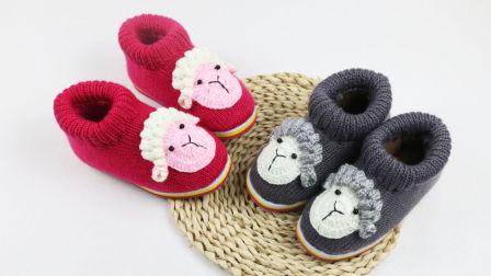 雅馨绣坊棉鞋编织视频第74集:生肖小羊钩织方法视频教程
