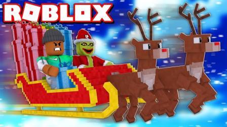 小格解说 Roblox 绿毛怪逃生: 圣诞节历险记! 圣诞节差点被偷走了?