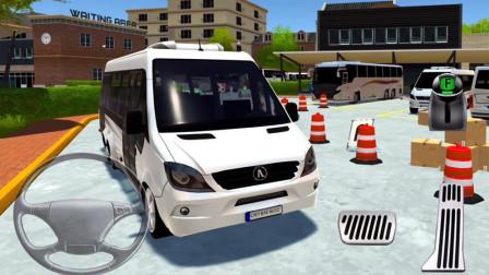 【永哥】大巴车公共汽车模拟驾驶 公交车BUS停车模拟器 永哥玩游戏