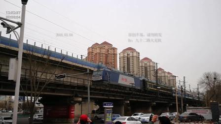 石家庄开往张家口的Y532双层火车, 经过天津小王庄铁路桥