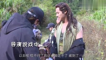 《盛唐幻夜》花絮, 戏中的逃亡镜头, 吴倩郑业成片场演起来很欢乐
