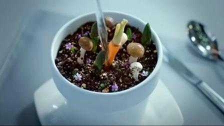 小伙去高级餐厅吃饭,结果上了一盘会生长的沙拉,小伙当场就大怒