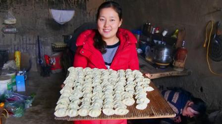 甘肃庆阳农村, 窑洞里的幸福生活, 就是陪84岁的外婆吃一顿饺子!