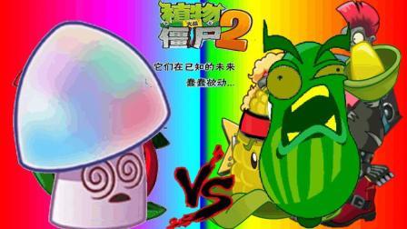 植物大战僵尸2魅惑蘑菇vs战术黄瓜