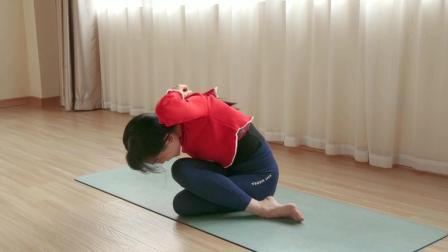 哈他瑜伽体式中常见的瑜伽Gomukhasana 牛面式免费视频教程