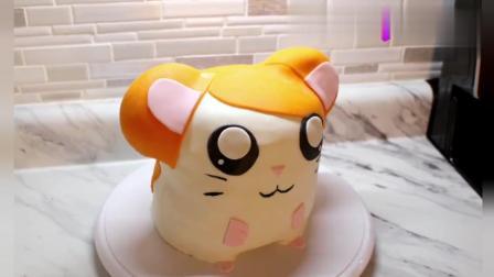 国外达人制作的哈姆太郎蛋糕, 看起来就很可爱, 好喜欢啊