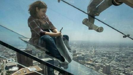 世界上最吓人的天空滑梯竟然在这里! 玻璃栈道都弱爆了
