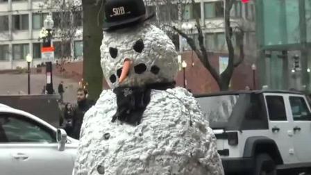 雪人恶作剧, 国外搞笑街拍, 不是真的还会动啊